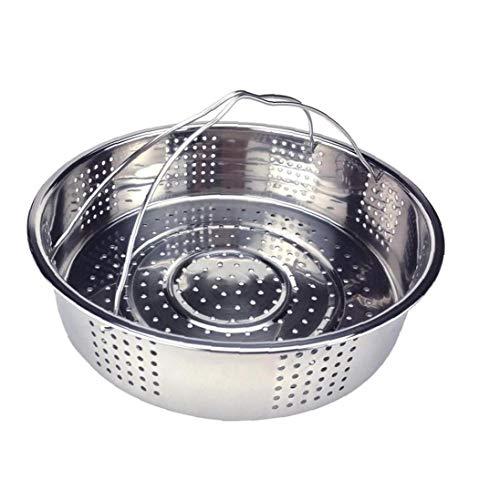 AMOYER Küche Seiher Dampfer Edelstahl-Dampfer Reiskocher Steamer Dampfkorb mit Silikon-Handgriff