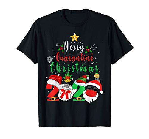 Merry Quarantine Christmas 2020 Matching Xmas Pajamas Family T-Shirt