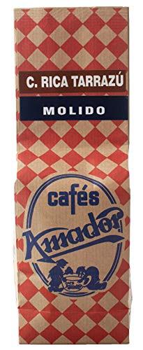 Cafés AMADOR - Café MOLIDO GRUESO Natural Arábica - COSTA RICA TARRAZÚ (Molienda para Prensa Francesa / Cold Brew) (2x250g) 500g