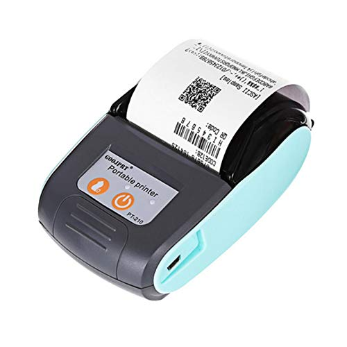 Thermal Printer, 58mm Mini Thermal Printer Portable Wireless Bluetooth USB Receipt Printer Supports Android, iOS and Windows Compatible with ESC/POS