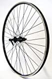 Vuelta 28 Zoll Fahrrad Laufrad Hinterrad Hohlkammerfelge Cut 19 Shimano Deore 610 schwarz 8/9/10-fach für V-Brakes/Felgenbremse