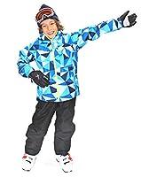 \動きやすさNo.1/【3年着られる!】 スキーウェア キッズ ストレッチ/動きやすい/軽量防寒/耐水圧 コスパ抜群!!ワンサイズ大きめ推奨(-20cmまでサイズ調整可能)お下がりにも可能 EVOL(イボール) スキーウェア キッズ 120~160サイズ サイズ調節可能 つなぎ こども 女の子 男の子 (PBL/ブルー, 160㎝)