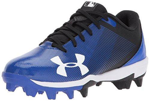 Under Armour Boys' Leadoff Low Jr. RM Baseball Shoe, Black (041)/Team Royal, 5.5 M US Big Kid