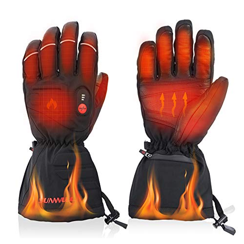 Anzid Heated Gloves for Men Women Rechargeable Waterproof-7.4V 2200 mAh Electric Battery Heated Gloves Motorcycle for Winter,3 Levels Temperature Control,use for Skiing Hunting or Outdoor Working(L)