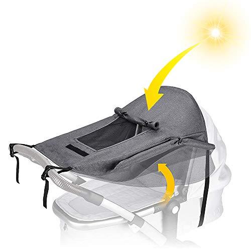 VVCIIC UNIVERSAL BABY SUNSHADE FOR PRAM BABY STROLLER SUN-COVER STROLLER AWNING UV UPF50+ PROTECTOR SUNSCREEN PUSHCHAIRS SUN-CANOPY UNIVERSAL PUSHCHAIR SHADE WATERPROOF