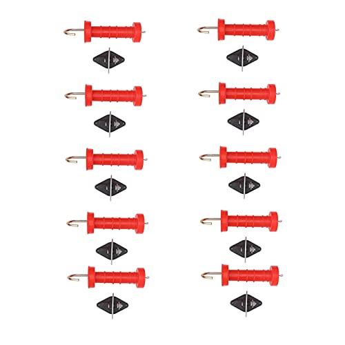 WNSC Kunststoff-Zaungriff, isolierter elektrischer Zaungriff Torgriff Elektrischer Zaungriff 10 Stück für elektrisches Zaun-Tor für den Garten