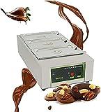 Ghongrm Máquina templadora de Chocolate Calentador de Chocolate automático eléctrico 1500W 30  ~ 80  Fuselador de Chocolate con 3 potes de 1.6L 3 Cilindros Auto Temp