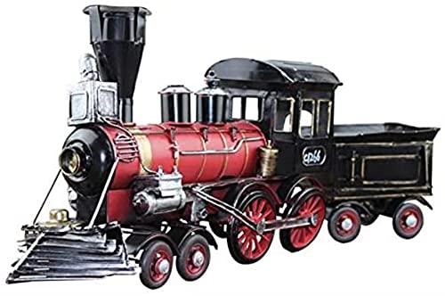 Modelo de locomotora de hoja de hierro Retro nórdico, colección de artesanías antiguas nostálgicas, decoración creativa para el hogar, regalo de festival, sorpresa de cumpleaños, juguete para niños