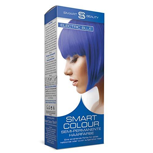 Electric Blue semi-permanente Haarfarbe |Ohne Ammoniak, Parabene, Sulfate und PPD | 100% vegan, ohne Tierversuche | Smart Beauty