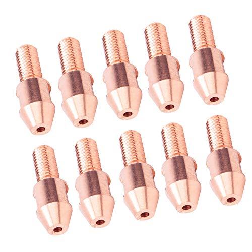 Punta directa del contacto de la soldadura, conductividad de la electricidad hecha de la vida de servicio del cobre 10pcs para la herramienta del soldador