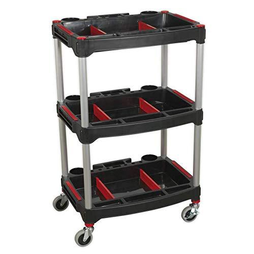 Sealey CX313 - Carro de taller (3 niveles, compuesto con piezas de almacenamiento)