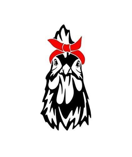 Chicken With Bandana Vinyl Decal