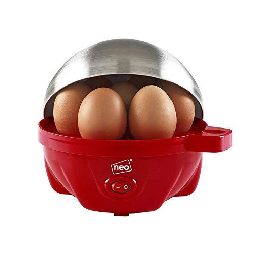 Neo ® Langlebig Edelstahl Rot Elektrisch Ei Herd Boiler Pochierer & Dampf Passt 7 Eier