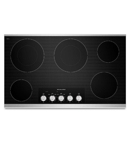 Kitchenaid KECC662BSS: KitchenAid 36-Inch 5-Element Electric Cooktop, Architect Series II -...