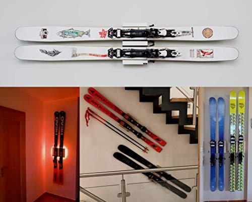 Clipboart® Standard Wandhalterung Eiche für alle Ski horizontal vertikal diagonal Halterung Wandhalter Wandmontage Freerideski Tourenski Carvingski Wand Clipboard