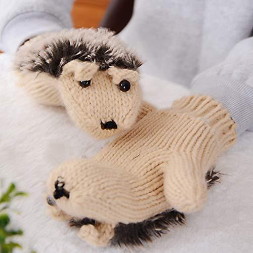 Fuzzy Hedgehog Mittens
