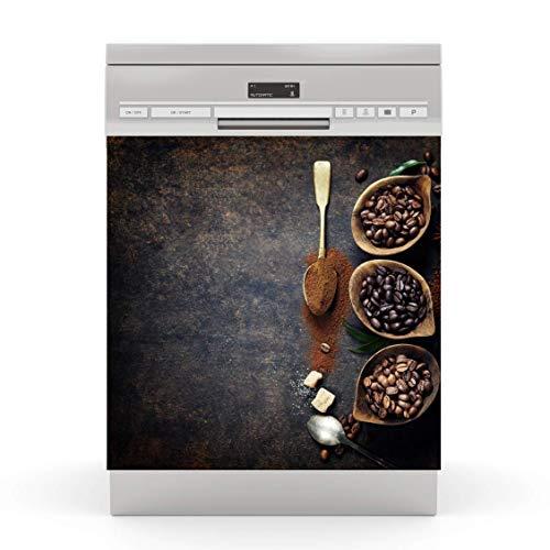 wodtke-werbetechnik Spülmaschinen Aufkleber Kaffee Schiefer