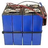 Batterie LiFePO4 4PCS 3.2V 100AH Lithium Fer Phosphate Cellule Alimentation de remplacement BMS LiFePo4 4S 12V 100AH BT pour RV Solar Marine & Applications hors réseau EU US Tax Free,4PCS+BMS
