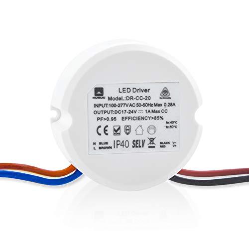 Doright Transformador LED DC 24V Fuente de alimentación LED 20W Adaptador Driver LED Adaptador Corriente Constante, Ttransformador Interruptor Aapto para luces de tira LED y G4, MR11, Iluminación LED