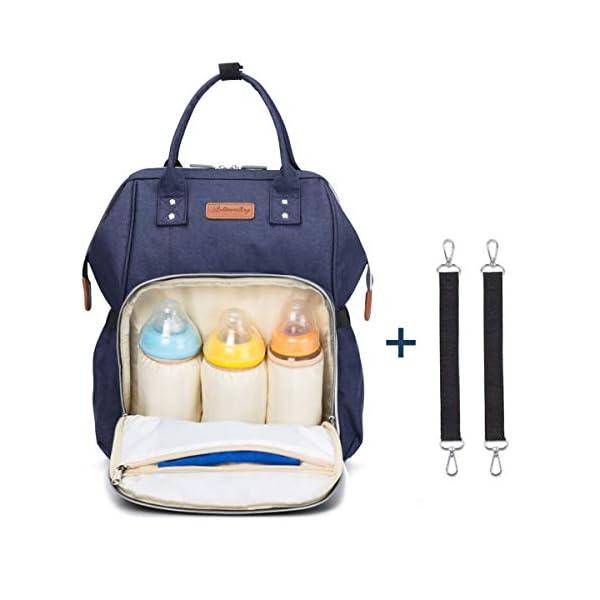 41fUvW0AbYL. SS600  - Wemk Mochilas de Pañales y Biberones, Mochila de Cambio Bebé con Bolsillo Térmico para Biberones, Material Impermeable…