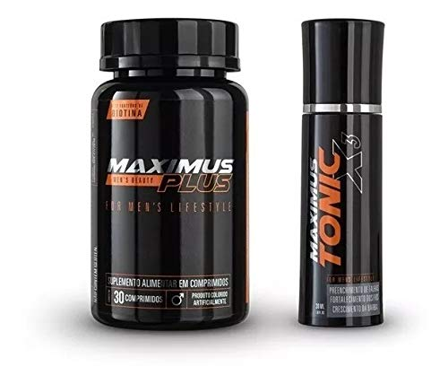 Maximus Plus Suplemento para Barba + Maximus Tonic X3 Combo High Performance - 30 dias