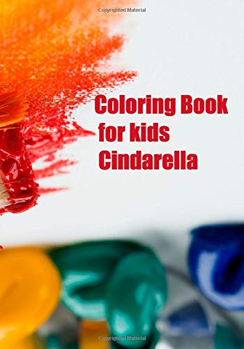 Coloring Book for kids Cindarella