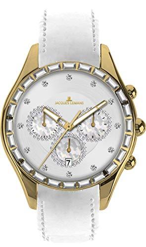Jacques Lemans Damen-Armbanduhr La Passion Capri Chronograph Quarz Leder 1-1646G