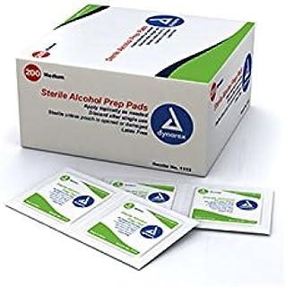 Dynarex 1113 Latex Free Sterile Alcohol Prep Pad, Medium (Box of 200)