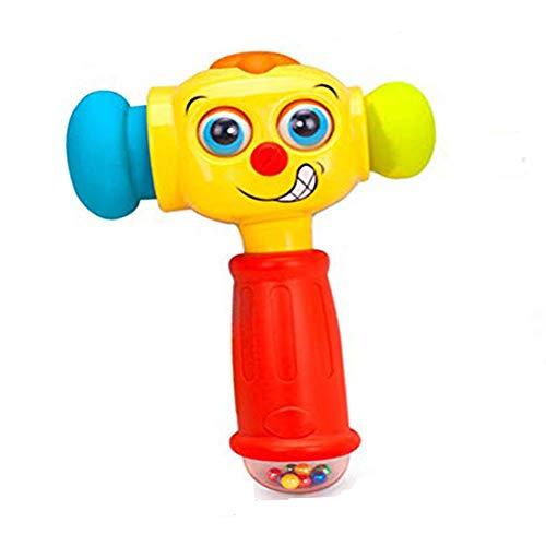 Babyspielzeug Set, Baby Fernbedienung Spielzeug & Baby Hammer Spielzeug | Kinderspielzeug mit Licht & Fernbedienung Spielzeug für 12 Monate Ab 1 2 3 Jahre Kleinkind Kleinkind Jungen Mädchen Geschenke
