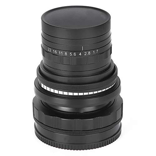 Goshyda Lente Manual de fotograma Completo, 50 mm F1.6 Montura FX Lente Manual de fotograma Completo con inclinación y Desplazamiento, para cámara Fuji