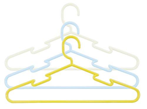 小久保 洗濯ハンガー スカート掛けに便利 color CRUISE プレーンハンガー 3本組