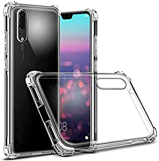 Flexible plastic cover with reinforced ends transparent color Case for Huawei P20 / P20 Pro / P20 Lite (Nova 3E) (P20)