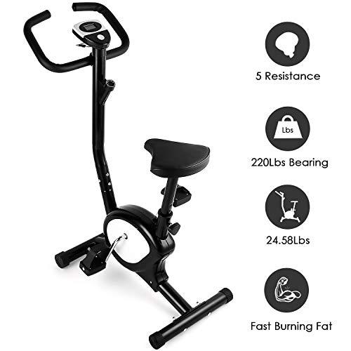 AGM Bicicleta Estáticas, Bicicleta de Entrenamiento de Fitness Resistencia...
