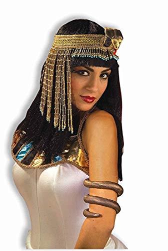 Forum Novelties Women's Egyptian Costume Accessory Asp Snake Beaded Headpiece, Gold, One Size