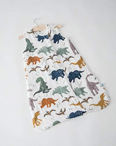 Little Unicorn | Cotton Muslin Sleep Bag X-Large - Baumwoll-Musselin Schlafsack XL (Dino Friends)