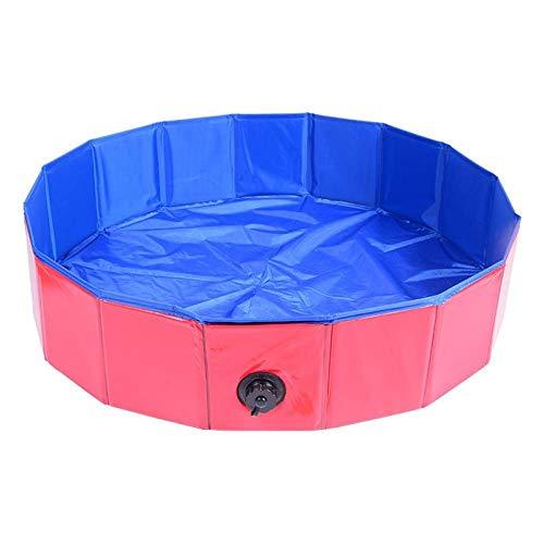 fjhghd Huisdier hond bad Inklapbaar medium hond Golden Retriever hond Privé zwembad bad vat, 80 * 20cm