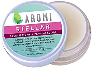 Solid Perfume   Vegan, Cruelty-free, Best Solid Perfume, Affordable Women's Gift, Travel-Sized, TSA-Approved, Indie Beauty, Artisan Scent, 0.5 oz, Aromi (Stellar)