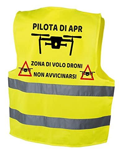 fashwork Gilet Pilota di Apr Drone- Alta visibilità