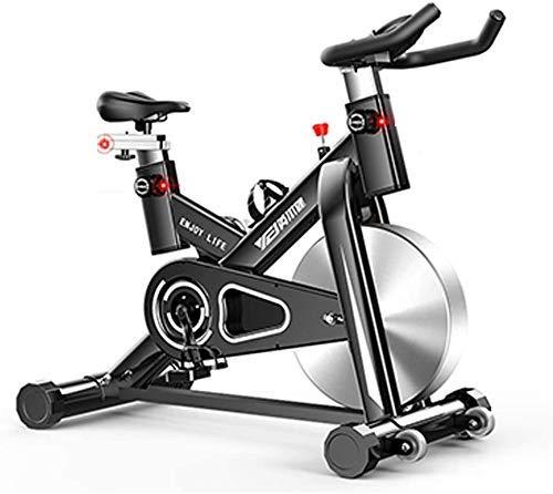 Spin Bike, Ciclos de Estudio de Ciclos de Estudio Máquinas de Ejercicio Cardio Entrenamiento, Manillares Ajustable Asiento Capacidad de Carga Máxima 100kg Monitoreo de Aplicación Inteligente