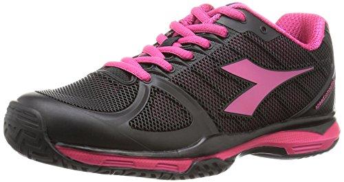 Diadora Damen Tennisschuhe Speed Competition II W AG Schwarz Pink, Schuhe Damen:EUR 38.5   UK 5.5   US 7.5   cm 24