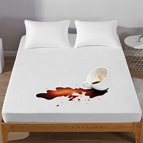 Bedecor Algodón Protector de colchón 150x190/200cm,Impermeable y Transpirable, Hipoalergénico
