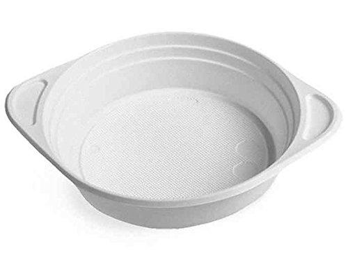 100 Stk. Suppenterrine, Einweg-Mikrowellenterrine weiß (PP) 350 ml