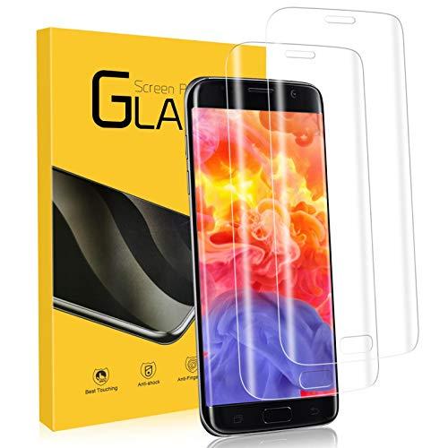 Schutzfolie für Samsung Galaxy S7 Edge Panzerglas, [2 Stück] 9H Festigkeit 3D Vollständigen Abdeckung Samsung S7 Edge Folie, Anti-Kratzer/Bläschen/Fingerabdruck Ultra Klar Samsung S7 Edge Panzerglas