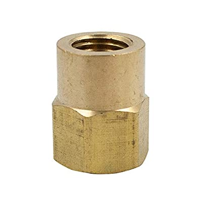 Legines Brass Inverted Flare Fitting, Female Connector, Adapter, NPT Female x Tube OD, Pack of 2