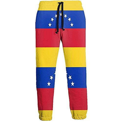 Emild Pantalón de chándal para Hombre Bandera de Venezuela Pantalón de chándal Suave con Pantalones Deportivos de Cintura con cordón