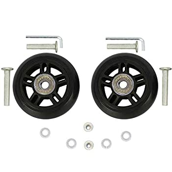 ORO 1 Pair Luggage Wheels Replacement 84x24mm 3.31 x0.94   with 8mm 0.31   Bearings Wheels for Suitcase and Inline Outdoor Skate