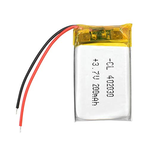 MeGgyc Batería recargable de polímero de litio de 200 mAh Li-ion batería 3.7V 402030 DVD MP3/4 LED lámpara 2pcs