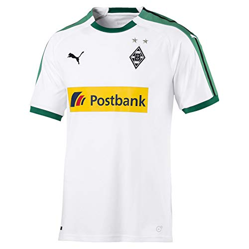 PUMA Herren BMG Home Shirt Replica with Sponsor Logo Trikot, White, XL