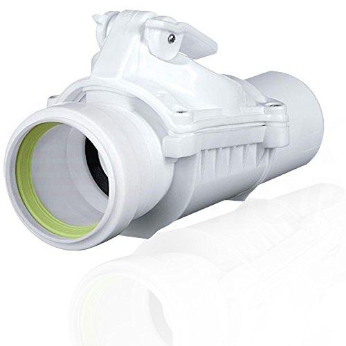 Rückstauverschluss Rückstauklappe DN 50 mm weiß grau Rückstauventil KG HT Rohr 1. Ø 50A weiß