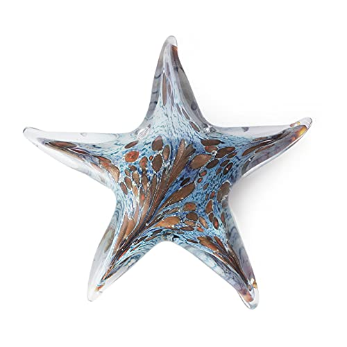 MARCTEL Home Décor Glass Sculpture Handicrafts Collectible Figurines Ornaments Decoration Office Colorful Starfish